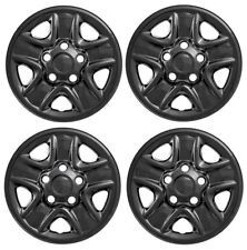 "2007-2017 TOYOTA TUNDRA 18"" 5-spoke Steel Wheel Cover Skin BLACK SET of 4 Covers"