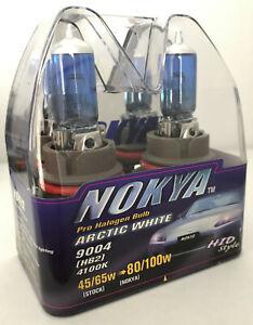 Vintage Nokya 9004 HB1 Arctic White Light 45/65W Halogen Headlight Bulbs 4100K