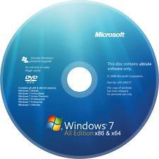 Microsoft Windows 7 AIO 32/64-bit Re-Install/Recovery/Repair Bootable DVD Backup