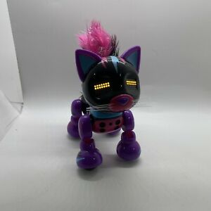 Spin Masters Zoomer Meowzies Black/Pink/Purple Cat  Tiger Interactive Robot 2016