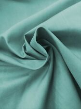 "Aqua Plain Polycotton Fabric - Dress Making -Lining- By Meter - 44""/112cm Wide"