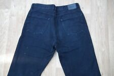 Homme noir denin Coton Jeans-Noir-W36 x L34