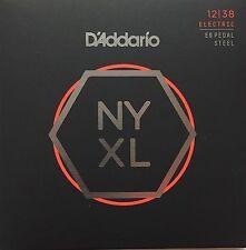 D'Addario NYXL1238PS Nickel Wound Pedal Steel Electric Guitar Strings 12-38