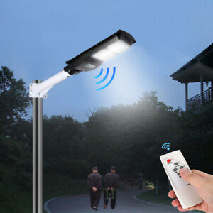 60/90W LED Solar Straßenlaterne Bewegungsmelder Sensor Wandleuchte Im Freien