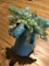 """Little """"Pretend Mermaid Tail"""" Hand Needle Felted Mouse! with Cute Curly Locks!"""