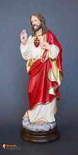 Statua Sacro Cuore di Gesù benedicente, in resina, 30cm