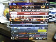 (16) Horror DVD Lot: The Omen Darkness White Noise The Ring 1 & 2 The Ruins MORE
