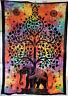 Tagesdecke Dekotuch CHANDRA-Bettüberwurf Indien Goa Hippie Psy Wandbehang single