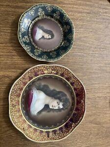 Royal Vienna Portrait Plate Set | Lady Amorosa