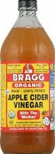 Organic Raw Apple Cider  Vinegar Unfiltered Bragg 32 oz Liquid