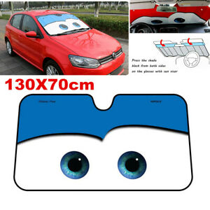 Auto Car Windshield Sunshade Front Window Foldable Visor Sun Shade Cover Blue