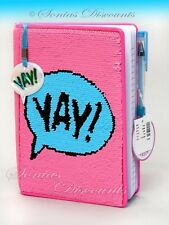 JUSTICE Girls Journal Diary Notebook - Reversible Sequins - Very Cute! NWT