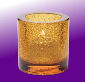 Tealight Candle Holder Amber Jewel, Hollowick 5140AJ for HD-8 Liquid Wax Candle