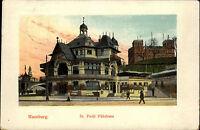 Hamburg AK 1910 gelaufen nach Politz Sankt St. Pauli Fährhaus Hamburger Hafen