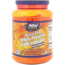 Now Foods Grass-Fed Whey Protein Concentrate,  1.2 lbs  NATURAL UNFLAVORED