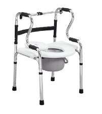 Commode Chair - Aluminium, Comfort Grips, Fold-able, Height Adjustable