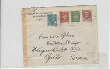December 1943 Letter FRANCE PETAIN to NORWAY-F.1,20+1,50+o,80+0.50-f922