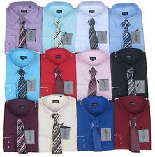 Samli Boys Shirt and Tie Set Long Sleeved Formal Smart Casual shirt 1Y to 1