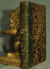 antique old French leather book l'Individu et l'etat Paris 1865