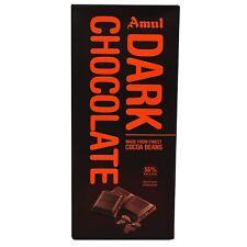 Amul Dark Chocolate Bar - Cocoa Beans, 150 g (free shipping world)