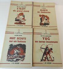 """Lot  4 livres scoutisme de la collection """"Le feu de camp"""": / bb"""