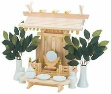 Japan Shinto Altar Wooden Kamidana Home Size With 11 Items