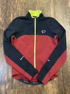 Pearl Izumi SELECT Thermal Long Sleeve Jersey Jacket Red Black Mens Sz Small EUC