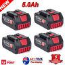 5.0AH 18V Li-ion Battery For Bosch BAT609 BAT618 17618 25618-01 BAT610G 24618 AU