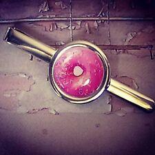 ! Unico! Rosa Donut Clip de Corbata Cromo Retro Diseñador Los Simpsons chispas Homer