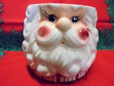 Vintage SANTA CLAUS Candy or Cookie Dish Bowl Christmas