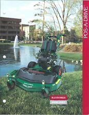 Lawn Equipment Brochure - Ransomes Bob-Cat - Pos-A-Drive - Riding Mower (Lg128)