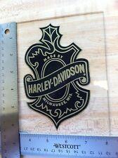 2 Harley-Davidson Oak Leaf Inside Window Decals. NOS Harley Stickers. 4 X 6.25.