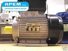 MOTORE ELETTRICO ITALIANO MONOFASE 1,5HP 1,1 KW MEC80 BETONIERA 1400 giri v.230