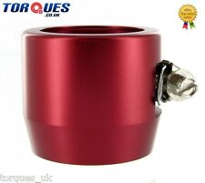 AN -20 (AN20) 40mm Red Fuel Hose Clamp Finishers - For Silicone hoses etc