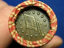 @Estate Sale Roll@ 50 Indian Head Cent Penny Coins w/ Civil War Token Showing #9