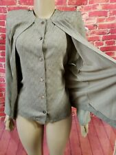 Vintage Et Al By Ronnie Rosado Tweed Gray Long Sleeve Blouse Jacket 8