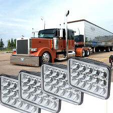 4PCS LED HEADLIGHTS Bulb HIGH LOW Sealed Beam 4500LM Fit Peterbilt 379 378 357