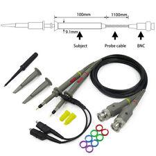 2X P6100 High Precision 1X 10X 100MHz  Probe Alligator Clip For BNC Oscilloscope