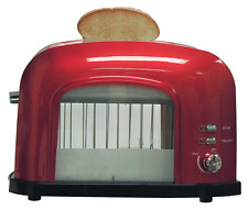 New 2-slice See-Through Automatic Toaster  Stainless Steel Red Best Kitchen Tool