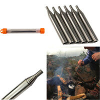 6x Outdoor Pocket Bellow Collapsible Fire Tools Camping Survival Blow Fire Tube
