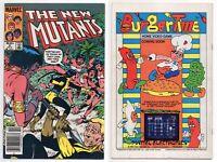New Mutants #8 *1st appearance Magma (Amara) Newsstand Variant UPC 1983 Marvel