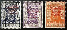 HEJAZ SAUDI ARABIA #L101-L103 1925 Red O/P Mint LH OG VF (13-58)