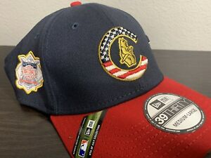 NEW New Era Chicago Cubs 39THIRTY Fitted Hat Cap SIZE Medium/Large M/L 4thJuly