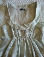 KOOKAI PRETTY A-LINE EMBROIDERED DRESS WITH ELASTIC WAIST SCOOP NECK SIZE 1 .