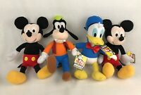 DISNEY -KOHL'S CARES Set of 4 - Mickey Mouse +Donald Duck+ Goofy 14'' Plush Toys