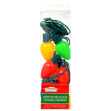 New Light-Up Battery Operated Christmas Necklace Xmas Bulbs Kids Adults