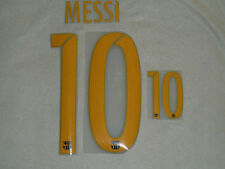 MESSI 10 Barcelona Iron On Name & Number Set For Football Shirt / Jersey