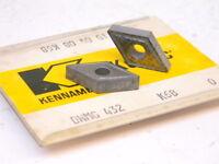 NEW SURPLUS 5PCS. KENNAMETAL DNMG 432  GRADE: K68  CARBIDE INSERTS