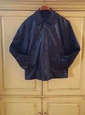 Men's Liz Claiborne Leather Jacket in Black size M