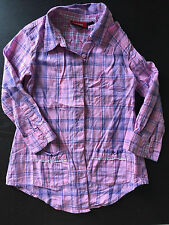 *** Lovely MEXX  girl plaid SHIRT - used size 3 years ***
